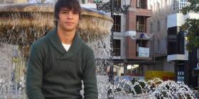 Oliver Torres, en la plaza de Navalmoral. Foto: M.A.F.