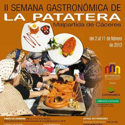 Cartel de la fiesta de La Patatera.